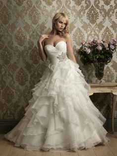 Layered organza wedding dress 2012