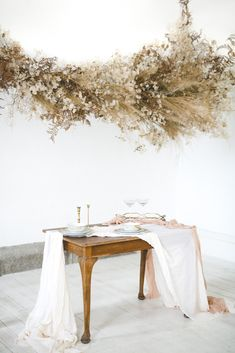 Dreamy Floral Cloud Installation at Horetown House – Wild Things Wed