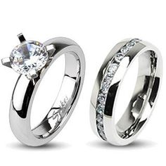 Eternity and Evermore Matching Wedding Set Love this set, Pin it to Win it!