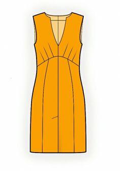 Sleeveless Dress - Sewing Pattern #4208