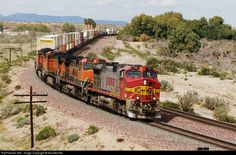 RailPictures.Net Photo: BNSF 758 BNSF Railway GE C44-9W (Dash 9-44CW) at Klinefelter, California by Nscalemike