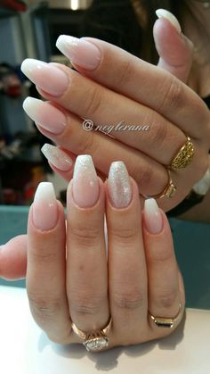 Gel Nails Faded French  #gelnails #nails