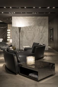 Seymour seating system and Elliott side table, Rodolfo Dordoni Design