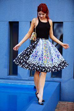 スカートの中にスカート。