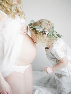 Studio mother-daughter maternity photos by Christie Graham Photography   Smitten Events   100 Layer Cakelet