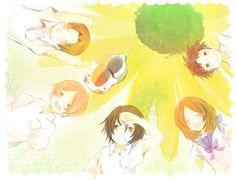 Natsume Yuujinchou - Sasada, Natsume, Tanuma, Taki and Nyanko !