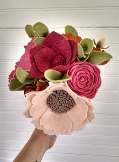 Wedding bouquet wool felt flower bouquet flower от madymae на Etsy