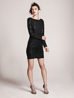 Super fun and sexy with a hint of sparkle, this LBD is perfect for a night out on the town at your bachelorette party!