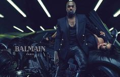 2015 - Balmain Spring/Summer Men's Campaign - As of December 22,2014 Kanye and Kim West became the newest faces of The Balmain brand Spring/Summer 2015 Menswear Collection