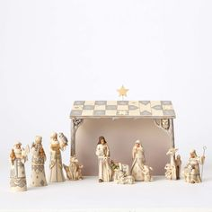 Jim Shore Heartwood Creek White Woodland Nativity 8 PC Set 4053690 We Adore Him | eBay