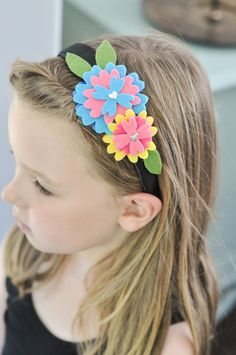 Every little girl needs a beautiful headband that she helped create. <3