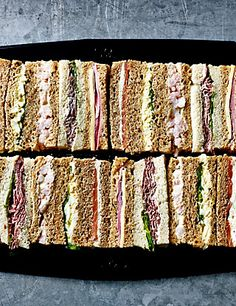 Buy the Afternoon Tea Sandwich Fingers Pieces) from Marks and Spencer's range. Honey Roast Ham, Roast Beef And Horseradish, Tee Sandwiches, Tea Party Sandwiches, Finger Sandwiches, Wraps, Sandwich Platter, Roasted Ham, Tea And Crumpets