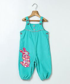 Love this Turquoise Rabbit Overalls - Infant & Toddler on #zulily! #zulilyfinds