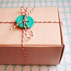 butcher twine and old buttons for wrapping