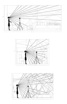 Acoustics of 3 Spaces These drawings show the acoustic of 3 different spaces : a…