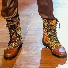 African Print Boots from Maasai Collections,Nairobi (about £15)