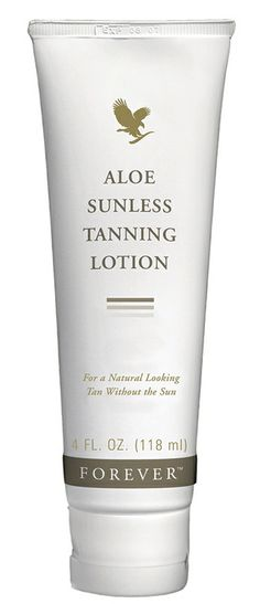 Forever Aloe Sunless Tanning Lotion - provides a natural-looking, streak-free, even tan without the damage of UV rays. Moisturises the skin on application, no unpleasant smell and doesn't rub off on clothes.