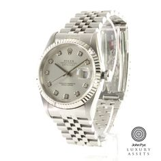 rolex datejust #gents stainless steel automatic #watch