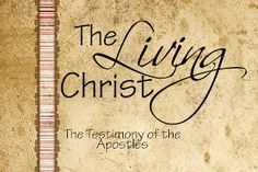 LDS Handouts: The Living Christ-memory cards