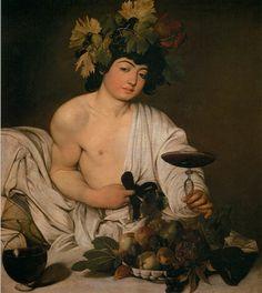 Caravaggio, Bacchus, 1596, found in the Galleria Borghese, in Rome.