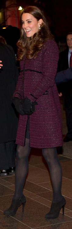 """Seraphine """"The Marina"""" coat, Russell and Bromley Muse clutch, Cornelia James gloves"""