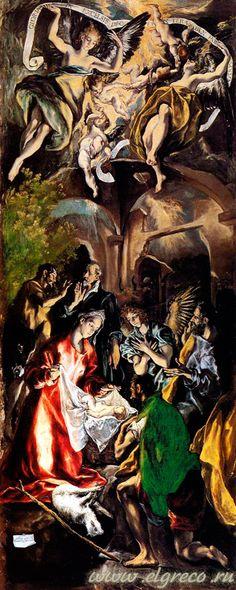 «Поклонение пастухов» Доменико Эль Греко 1596-1600. Холст, масло. . Прадо, Мадрид./ www.ElGreco.ru