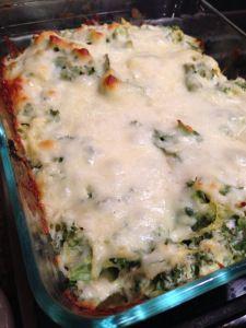 Spaghetti Squash and Kale Casserole. Mozzarella, ricotta, and parmesan... mmm. too much cheese? how?
