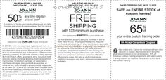 Printable Coupons: Joann Coupons