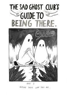 The Sad ghost's sad ghost club. A club for raising positive mental health awareness, through comics and community Pretty Art, Cute Art, Illustrations, Illustration Art, Steven Universe, Ghost Comic, Angst, Girly, Motivation
