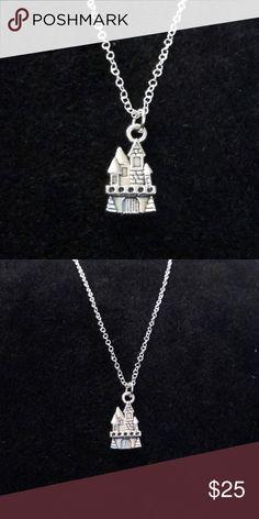 handmade silver castle charm necklace handmade silver castle charm necklace on a delicate 20