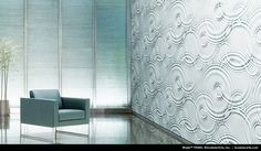 Wade Collection by modularArts.     Wall material- no plastic, no VOC's, and no urea-formaldehyde.