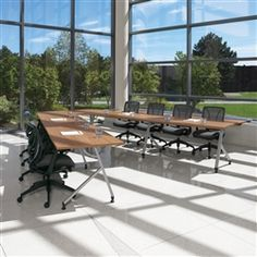 V Shaped Junction Conference Table Layout From Global Total Office