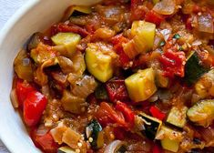 Oat Ratatouille at 0 SP WW Recipe Main Course and Recipe Ww Recipes, Vegetarian Recipes, Healthy Recipes, Ratatouille Au Four, Plats Weight Watchers, Food 52, Vegetable Recipes, Entrees, Good Food