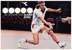 Diadora Borg Elite: The Original Tennis Classic & Still The Best - Casual Classics Tennis Fashion, 80s Fashion, Tennis Legends, Tennis Equipment, Tennis Clothes, Tennis Outfits, Professional Tennis Players, Soccer Practice, Vintage Sneakers