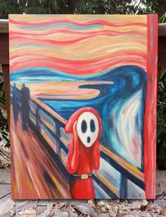 2ecc31461 Edvard Munch s The Scream... with a Shy Guy!  D Super Mario