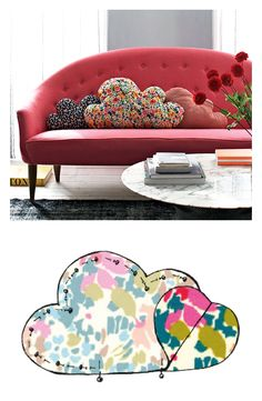 tuto gratuit coussin nuage - Make your own cloud cushion - tutorial & free template -flat tufted version to hang on a wall? Fabric Crafts, Sewing Crafts, Sewing Projects, Sewing Hacks, Sewing Tutorials, Cloud Cushion, Cloud Pillow, Cushion Tutorial, Ideias Diy