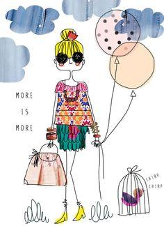 fashion illustration, Fashion Quote, fashion art, quote print, art quote, girls room art, fashionista print via Etsy