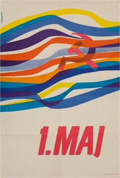 This old poster by Vladimir Todorović is from Yugoslavia. Vintage Travel Posters, Vintage Ads, International Workers Day, Nostalgia Art, History Posters, Socialist Realism, Retro Waves, Power To The People, Advertising Poster