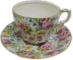 "I have some of this bone china discontinued in 1933 ""Summertime"""