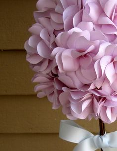 Custom Paper Floral Topiary Centerpiece.  Ideal by PAPERFLORISTS, $45.00