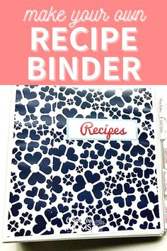 Easy Recipe Binder. This binder will keep your recipes neat and organized. Click here to discover how to make your own recipe binder for all your favorite dishes! Make meal planning and meal prep easier with your recipes organized this way. #organizingmoms Organizing Paperwork, Binder Organization, Recipe Organization, Organization Ideas, Organizing Tips, How To Make Your Own Recipe, Food To Make, Recipe Binders, Organized Mom