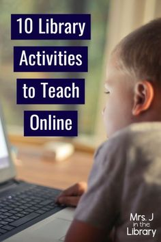 10 Virtual Library Activities for Students to Do at Home | Mrs. J in the Library - If your school is forced to close or move to virtual, remote, or distance learning, use these online learning activities for your library lessons. #MrsJintheLibrary #schoollibrary #distancelearning #librarylessons