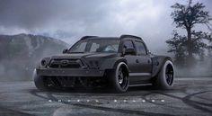 "Endzeit Pick-up ""T.OKOMA"" - Future World - superschnelle Autos Mini Trucks, Cool Trucks, Custom Trucks, Custom Cars, Pick Up, Lowered Trucks, Toyota Trucks, Gmc Trucks, Off Road"