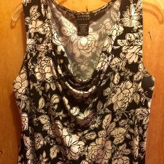 Shirt Black and white stretch sleeveless shirt George Tops Blouses