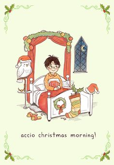"""""""Accio Christmas Morning!"""" Greeting Cards & Postcards by AliciaMB 