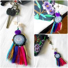 Star Hmong With Multi Tassel Keychain Zip Pull by KhumWiengKham