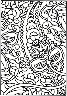 Creative Haven Paisley Designs Stained Glass Coloring Book: Dover Publications samples