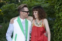 Designer Todd Thomas and actress Parker Posey attends the 12th Annual Bette Midlers New York Restoration Project Spring Picnic at Gracie Mansion on May 30, 2013 in New York City. By Yoni Levy / Photography By Yoni