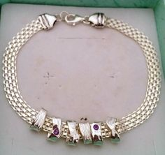Silver Charm Bracelet Handmade Chain Silver by TalyaDesign on Etsy
