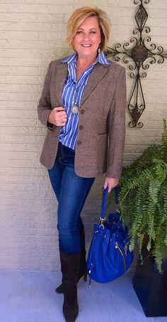 "50 IS NOT OLD | CHADWICK""S OF BOSTON GIVEAWAY | Herringbone | Classic blazer | Fashion over 40 for the everyday woman #ad #chadwicksofboston #affordablequality @chadwicksofboston"